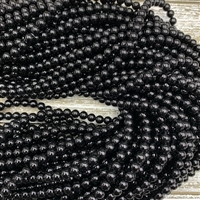 6mm Black Onyx Strands