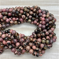 8mm Rhodonite Strands