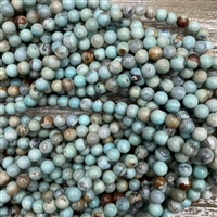 8mm Robins Egg Blue Terra Jasper