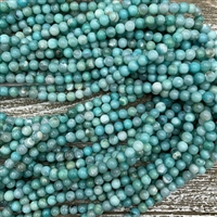 6mm Robins Egg Blue Terra Jasper