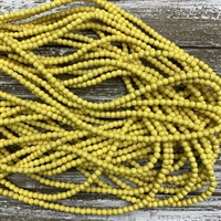 4mm Golden Yellow Magnesite Strands