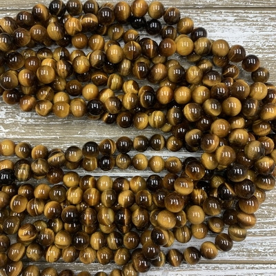 10mm Tigers Eye Strands