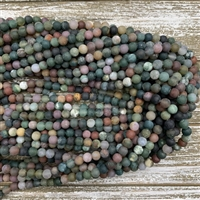 6mm Matte Indian Agate Strands