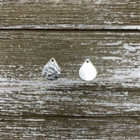10x13mm Hammered Drops - Antique Silver