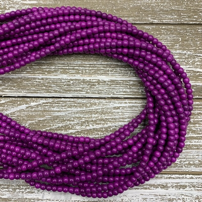 4mm Magnesite Strands - Purple