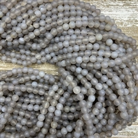 6mm Matte Grey Agate Bead Strands