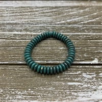 6mm Disk Spacer - Turquoise Opaque with Marbled Bronze Finish