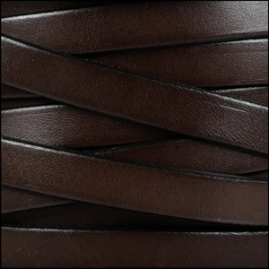 10mm Flat Chocolate Brown Leather