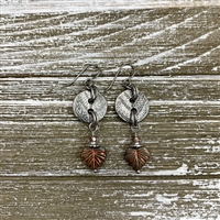 Fall Leaves Button Earring Kit