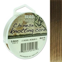 Chinese Knotting Cord .8mm Light Brown