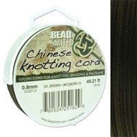 Chinese Knotting Cord .8mm Dark Brown