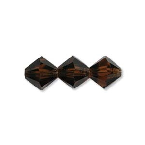 3mm Smoked Topaz Bicone Strands