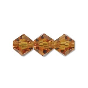 3mm Topaz Bicone Strands