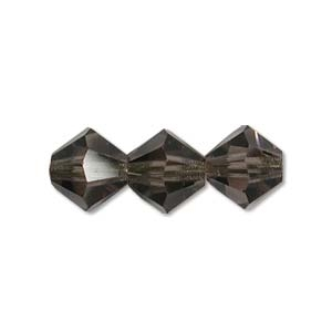 4mm Black Diamond Bicone Strands