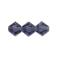 6mm Tanzanite Crystal Bicone Strands