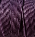 3 Ply Irish Waxed Linen - Plum