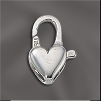 Sterling Silver Heart Shaped Clasp 14MM