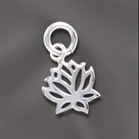 Sterling Silver Lotus Flower Charm