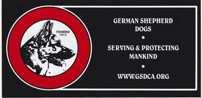 Small GSDCA Bumper Stickers (Pkg of 3)