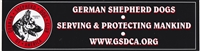 Large GSDCA Bumper Stickers (Pkg of 3)