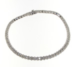 BLD0013 18k White Gold Diamond Bracelet