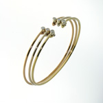 BLD0014 18k White, Yellow & Rose Gold Diamond Bracelet
