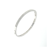 BLD0044 18k White Gold Diamond Bracelet