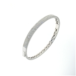 BLD0045 18k White Gold Diamond Bracelet
