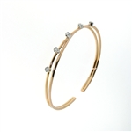 BLD0047 18k Rose Gold Diamond Bracelet
