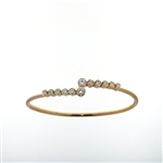 BLD0055 18k Rose Gold Diamond Bracelet