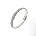 BLD0056 18k White Gold Diamond Bracelet