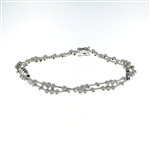 BLD0057 18k White Gold Diamond Bracelet