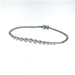 BLD0059 18k White Gold Diamond Bracelet