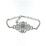 BLD0060 18k White Gold Diamond Bracelet