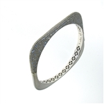 BLD0063 18k White Gold Diamond Bangle