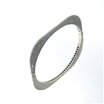 BLD0064 18k White Gold Diamond Bangle