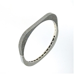 BLD0065 18k White Gold Diamond Bangle