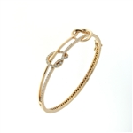 BLD0075 18k Rose Gold Diamond Bracelet