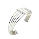 BLD0081 18k White Gold Diamond Bangle