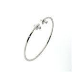BLD0082 18k White Gold Diamond Bangle
