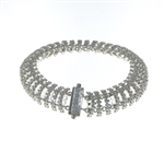 BLD0085 18k White Gold Diamond Bracelet