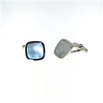 CUF1029 Sterling Silver Mother-of-Pearl Cuff Links