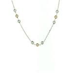 NEC0049 18k White Gold Diamond Necklace