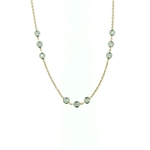 NEC0052 18k Rose Gold Diamond Necklace