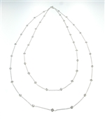 NEC0054 18k White Gold Diamond necklace