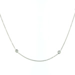NEC01003 18k White Gold Diamond Necklace
