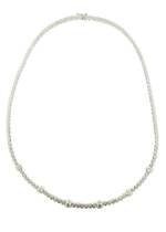 NEC1011 18k White Gold Diamond Necklace