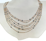 NEC1030 18k Rose Gold Diamond Necklace