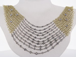 NEC1043 18k Yellow & White Gold Diamond Necklace