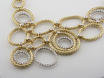 NEC1056 18k Yellow & White Gold Diamond Necklace